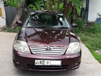 Toyota Corolla 121 Car For Rent